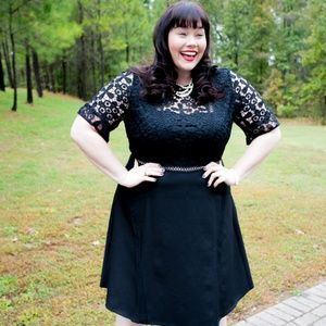 Asos Curve Black Lace Dress - sz18